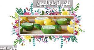 ماهي فوائد الليمون