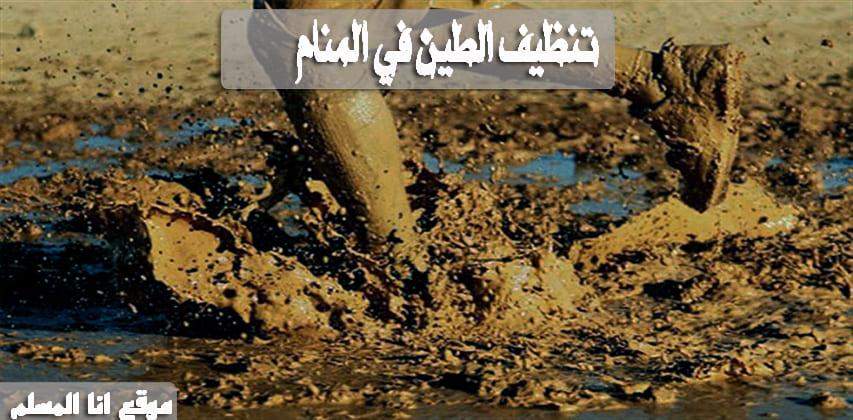 تنظيف الطين في المنام