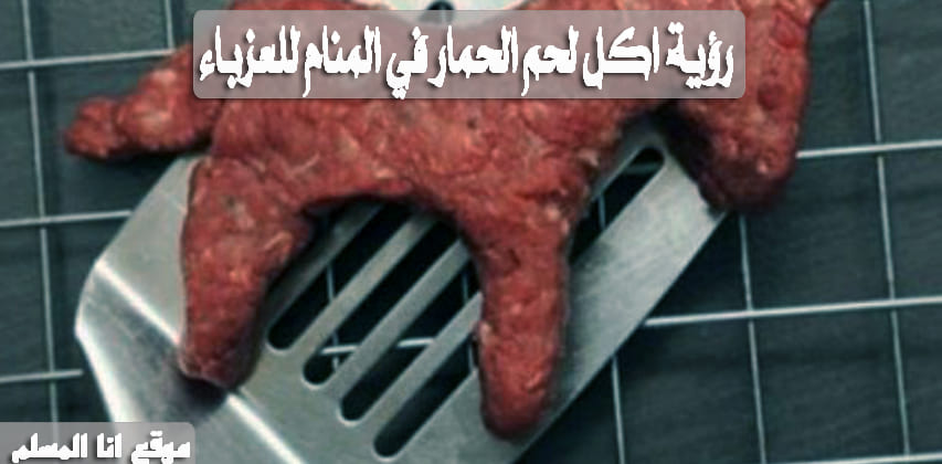 رؤية اكل لحم الحمار في المنام